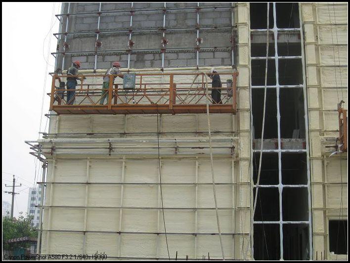 视频--吊篮外墙保温施工xian场